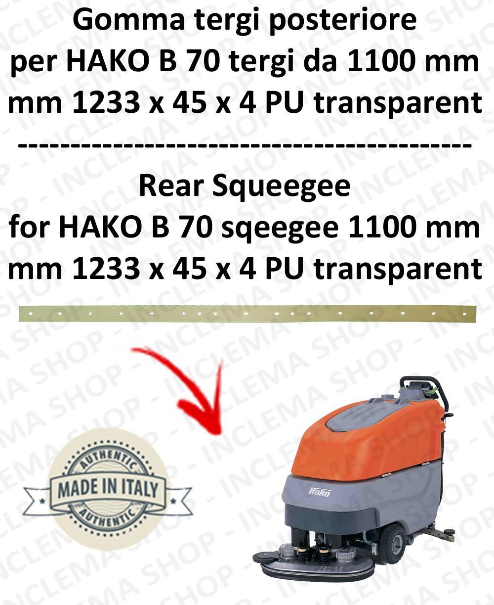 B 70 Hinten Sauglippen von 1100 mm für Scheuersaugmaschinen HAKO