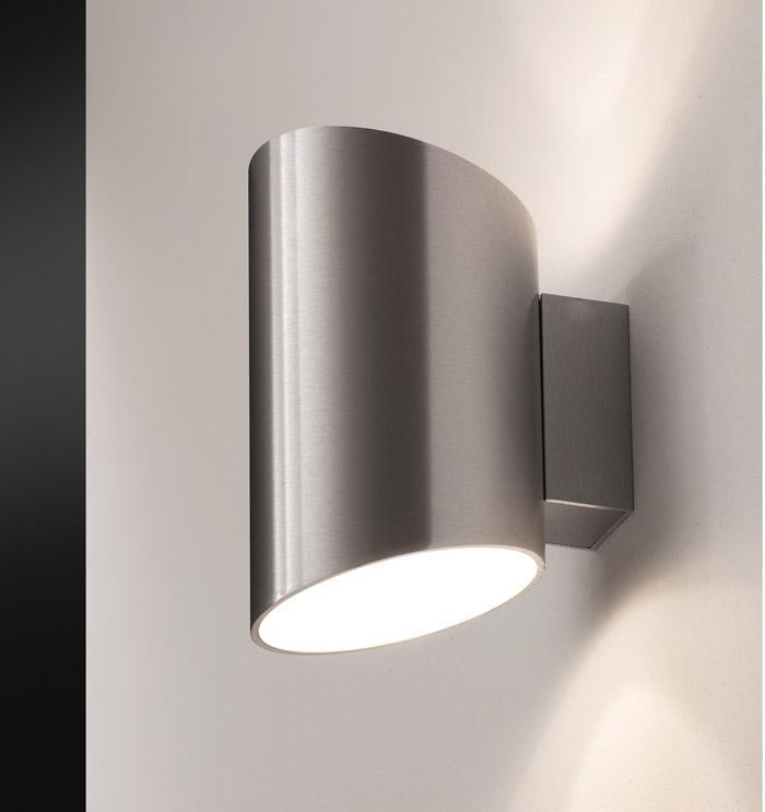 ZIP 14 applique alluminio spazzolato LED