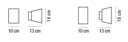 ZIP 18 applique alluminio bianco LED