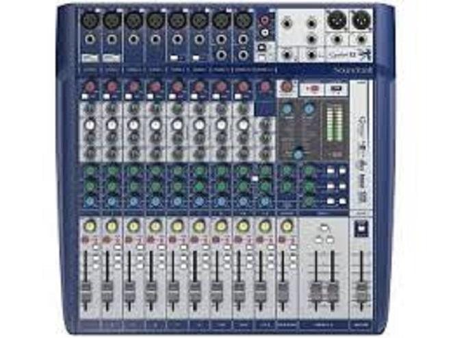 MIXER SIGNATURA12FX USB SOUNDCRAFT EFFETTI