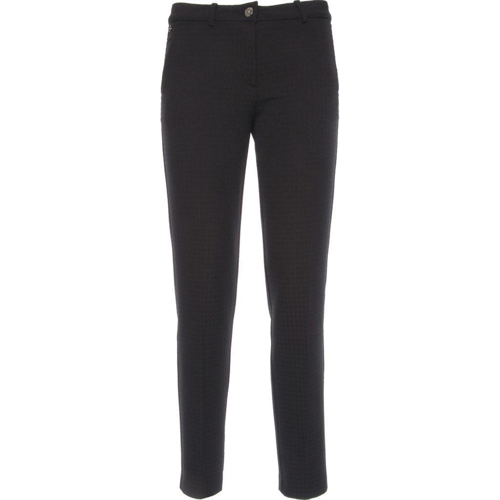 Pantalone tasca francese punto Milano nero Nero Giardini