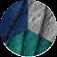 Midnight Blue-Grey-Forest Green