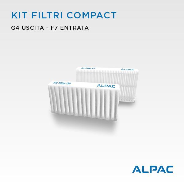 Kit ricambio filtri per Alpac VMC Compact, Iki e Shu - Climapac VMC Compact, Aliante, Arias