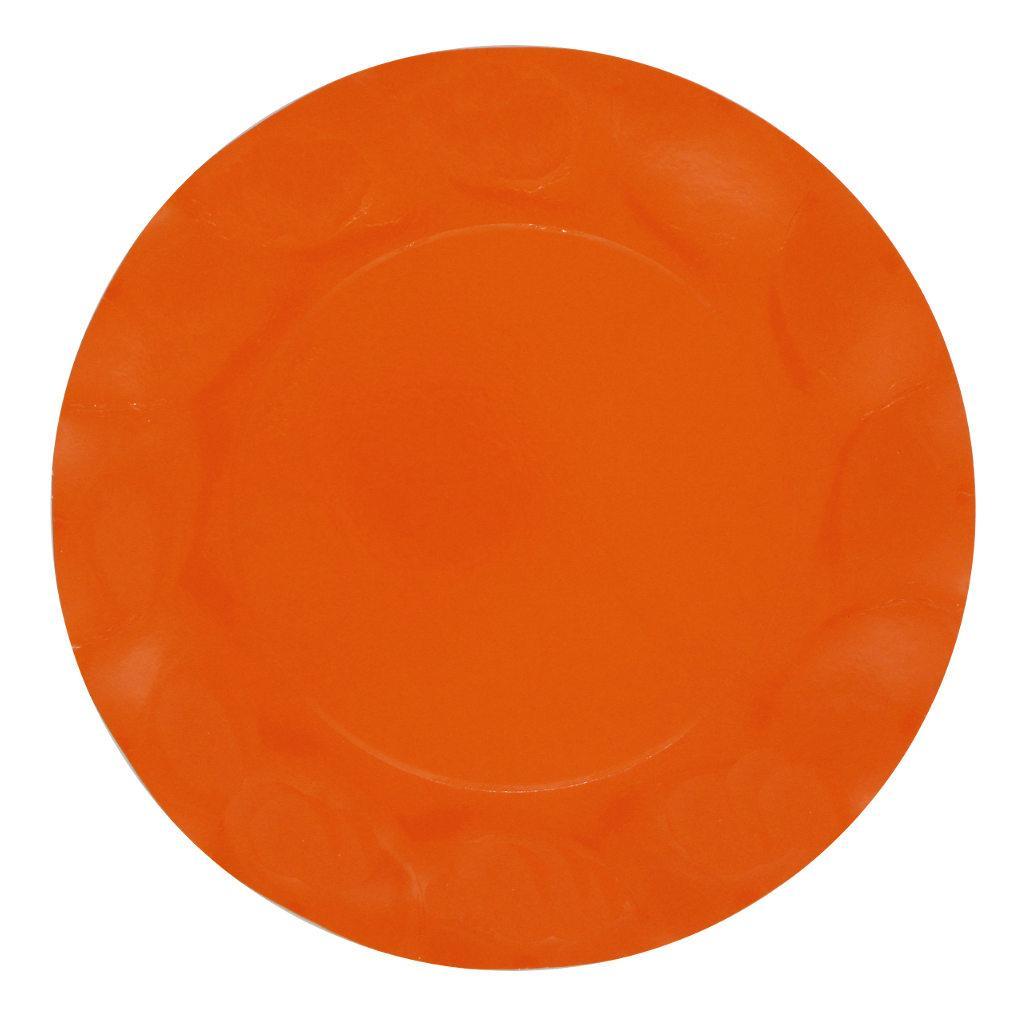Piatti in cartoncino Arancio cm. 27