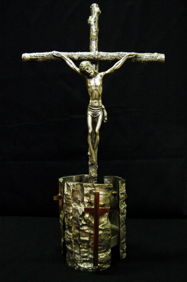Croce da altare argentata GAL134A
