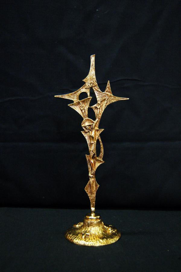 Croce da altare dorata GAL549D
