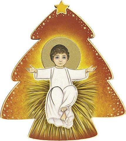 Immagine in pvc alberello con Gesù Bambino