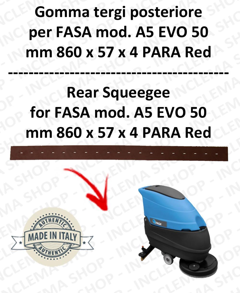 A5 EVO 50 Bavette autolaveuses ARRIERE pour FASA