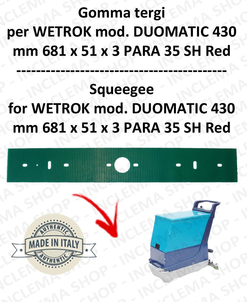 DUOMATIC 430 Bavette  pour autolaveuses  WETROK