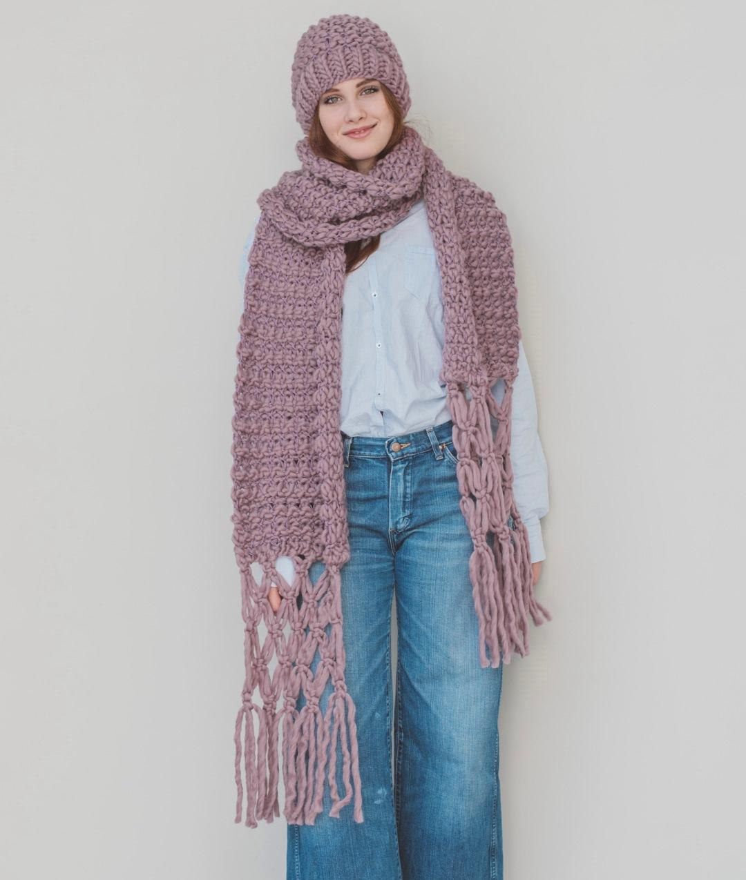 Scarves and Snoods - Wool - ROMANTIC SCARF - 1