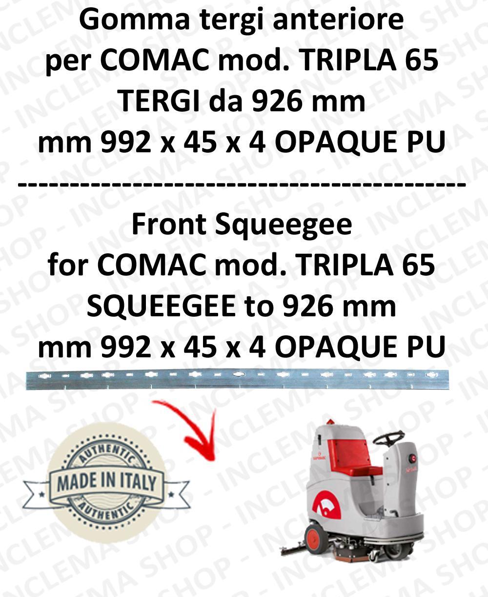 TRIPLA 65 GOMMA TERGIPAVIMENTO anteriore per COMAC ricambio lavapavimenti squeegee