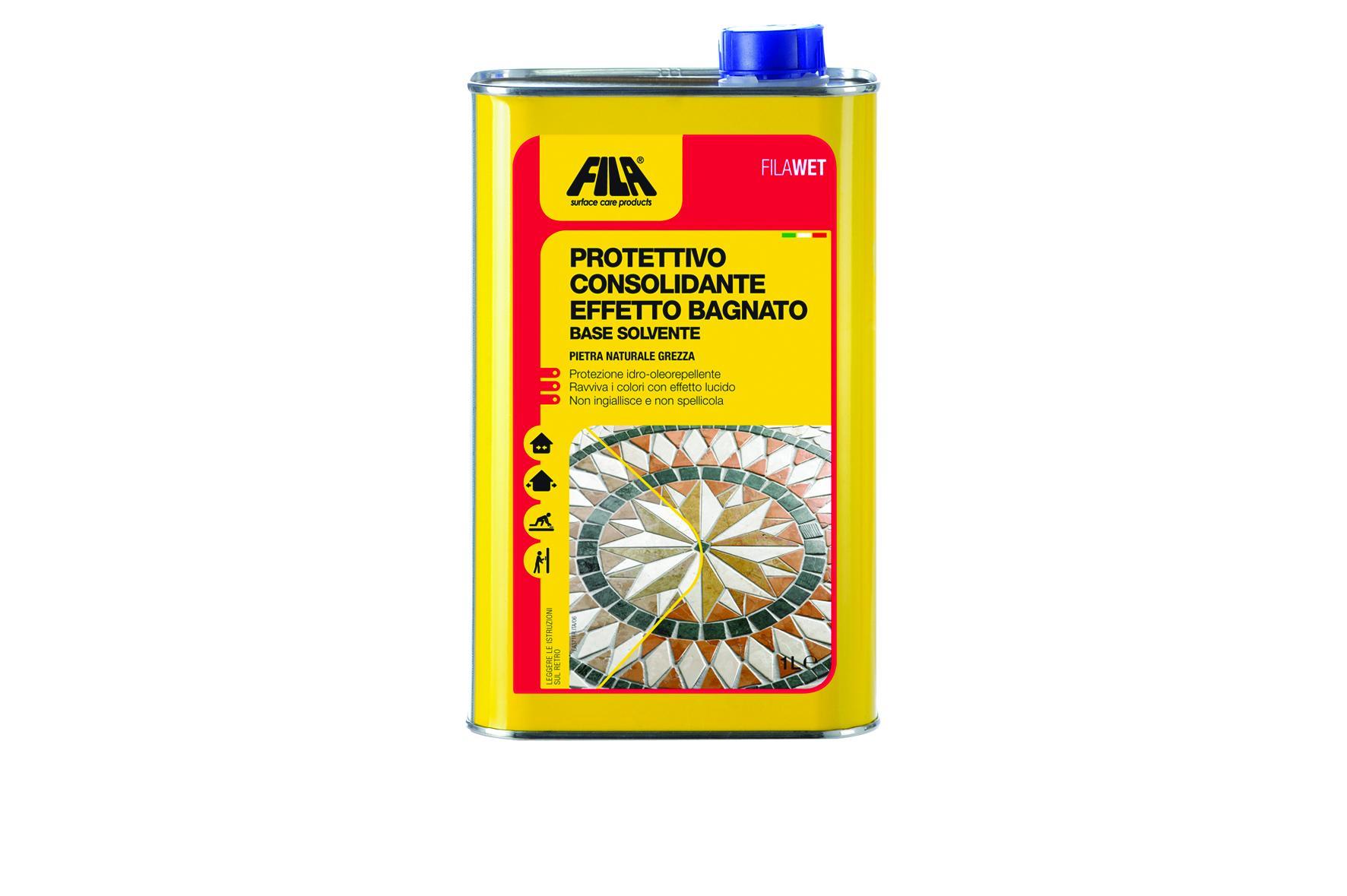 Protettivo Consolidante ad effetto Bagnato base solvente 1lt FilaWet FILA