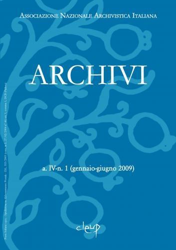 Archivi a.II n.1 (gennaio-giugno 2007)