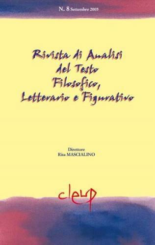 Rivista di Analisi del Testo Filosofico, Letterario e Figurativo