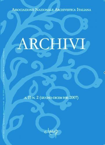 Archivi a.II n.2 (luglio-dicembre 2007)