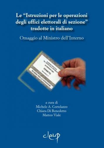 Le ´Istruzioni per le operazioni degli uffici elettorali di sezione´ tradotte in italiano.