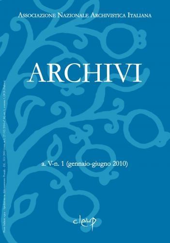 Archivi a.IV n.2 (luglio-dicembre 2009)
