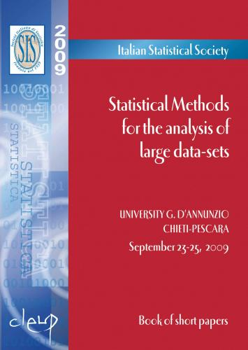 Statistical Methods for the analysis of large data-sets