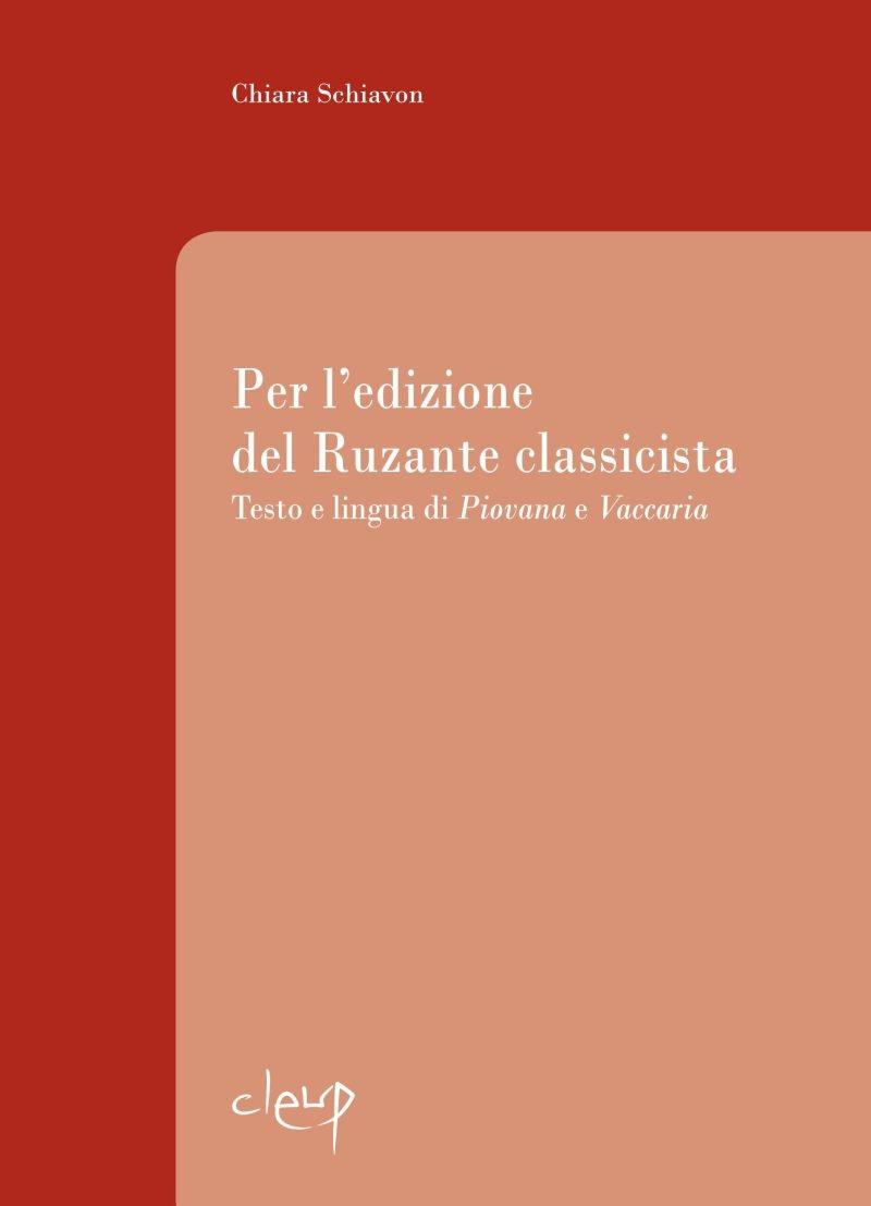 Per l'edizione del Ruzante classicista