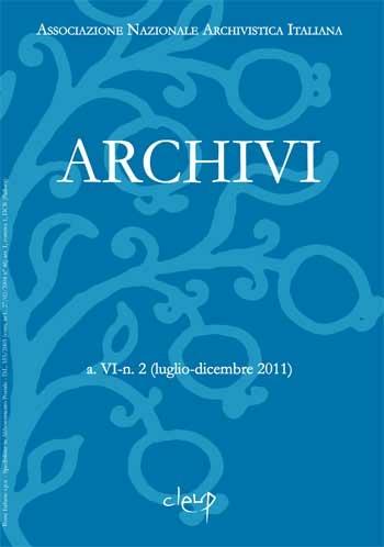 Archivi a.VI n.2 (luglio-dicembre 2011)
