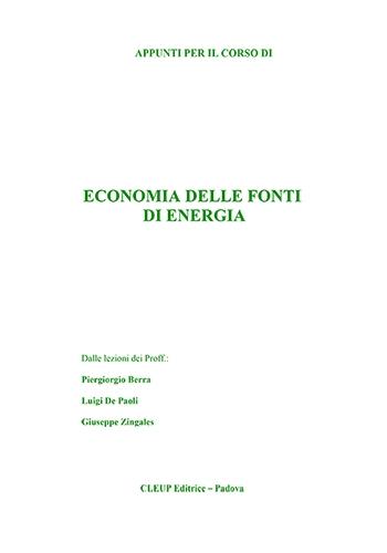 Economia delle fonti di energia