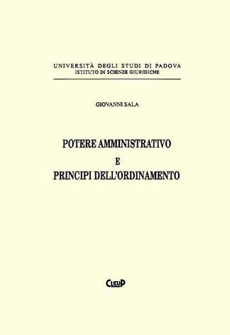 Potere amministrativo e principi dell´ordinamento