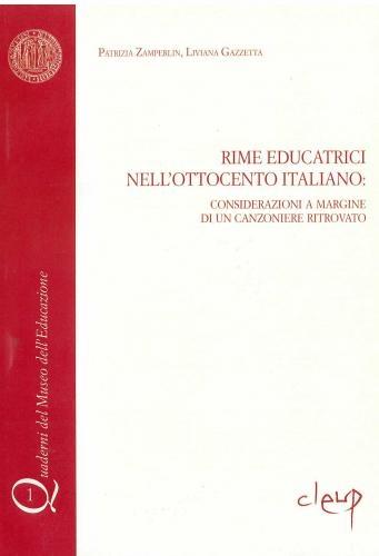 Rime educatrici nell´ottocento italiano: considerazioni a margine di un canzoniere ritrovato