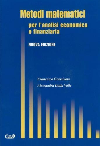 Metodi matematici per l'analisi economica e finanziaria N.E.