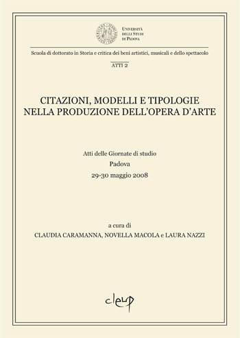 Citazioni modelli e tipologie  nella produzione dell'opera d'arte