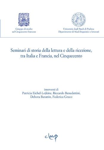 Seminari di storia della lettura e ricezione, tra Italia e Francia, nel Cinquecento 2