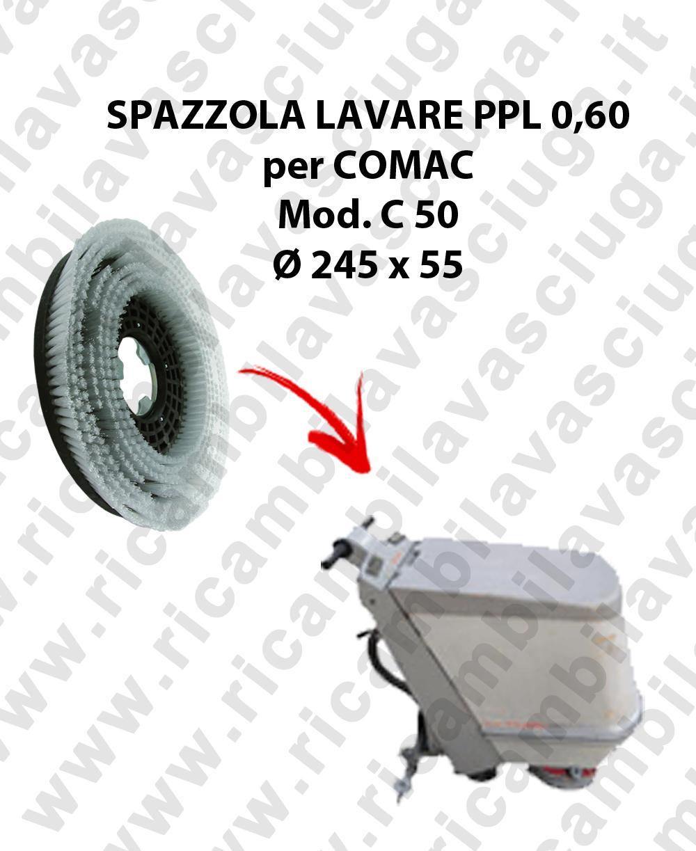 Brosse de laver  pour autolaveuses COMAC modelle C 50 diamétre  245 x 55 PPL 0,60