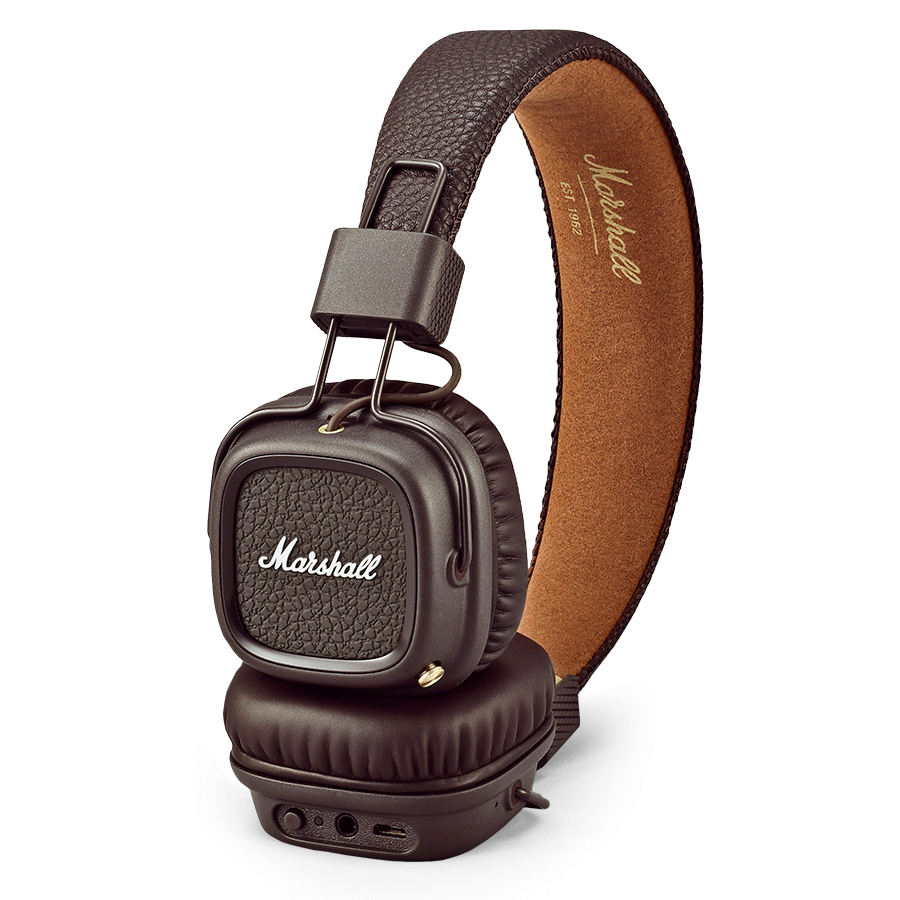 Marshall Major II bluetooth BROWN - cuffie wireless senza fili