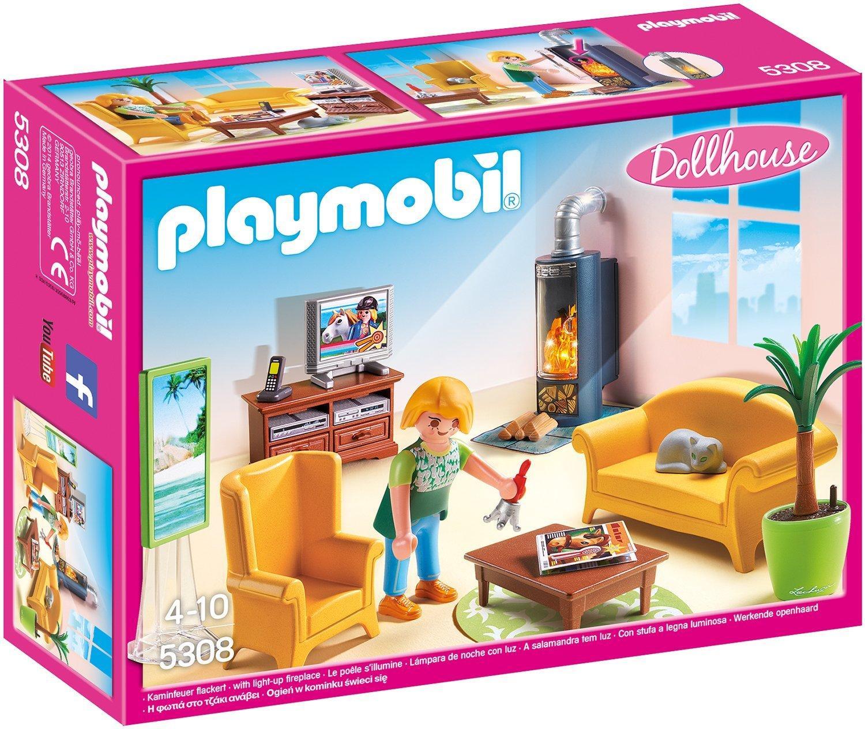 PLAYMOBIL SOGGIORNO CON STUFA A LEGNA 5308