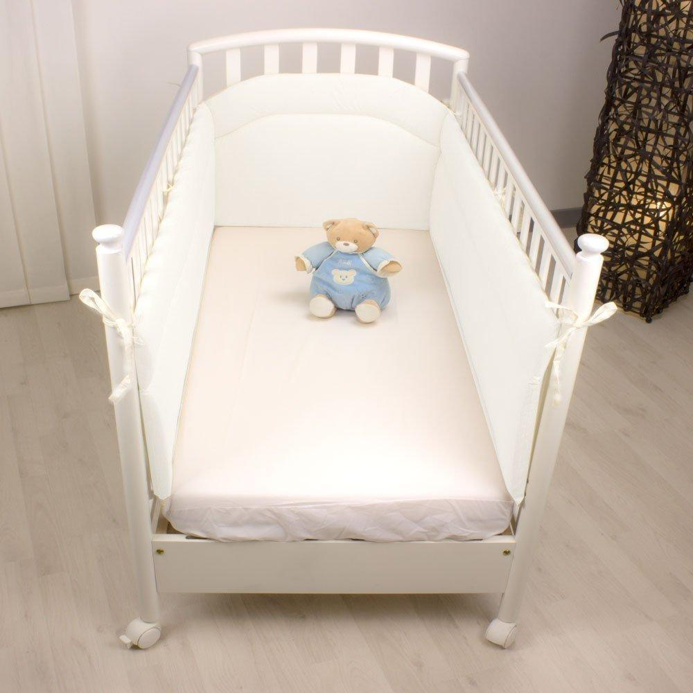 Paracolpi lettino lati lunghi traspirante made in Italy Babysanity