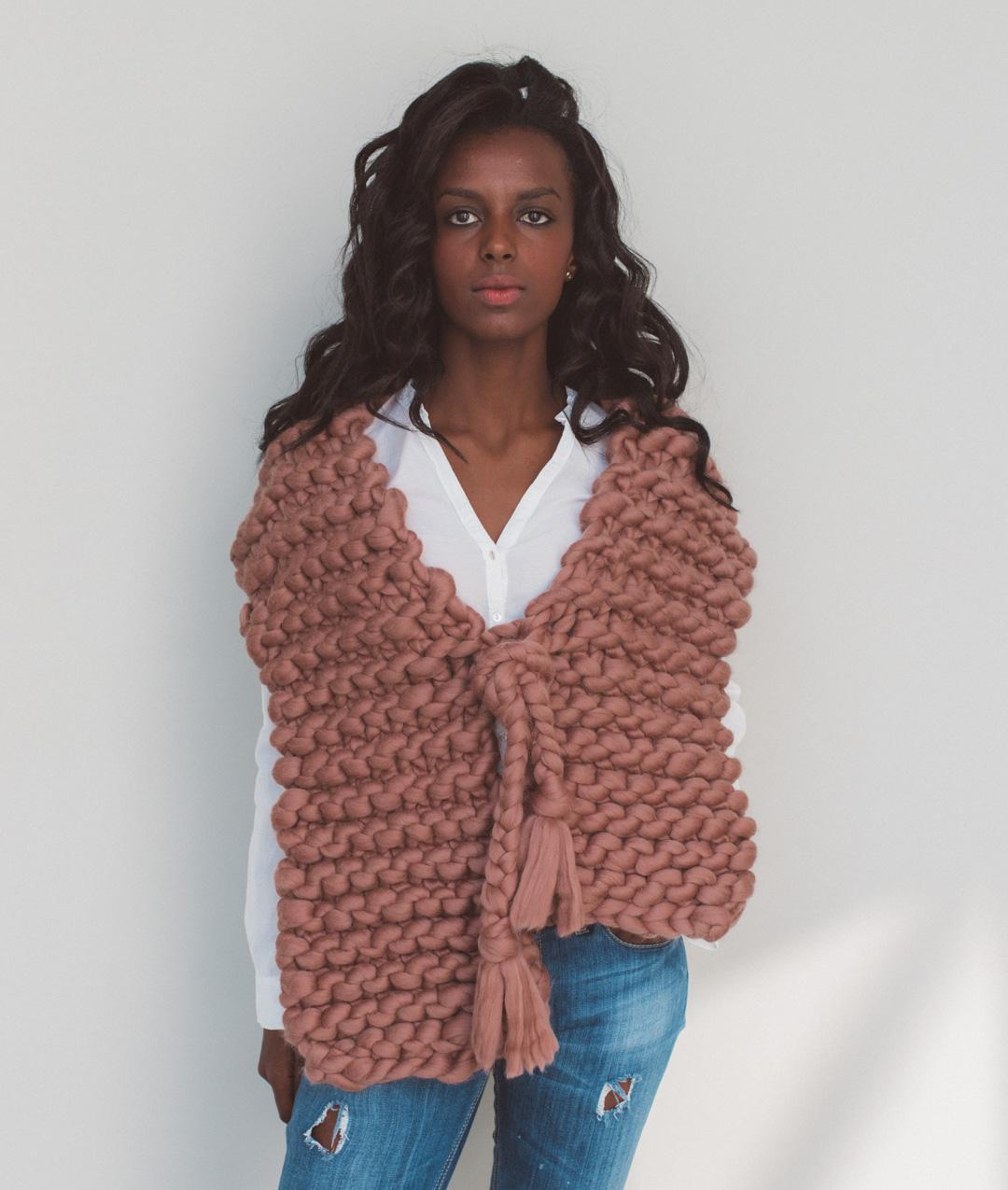 The scarf kit maglia lana per sciarpe e scaldacolli for Lego giganti arredamento