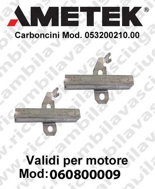 Couple du Carbon pour moteur aspiration Ametek 060800009