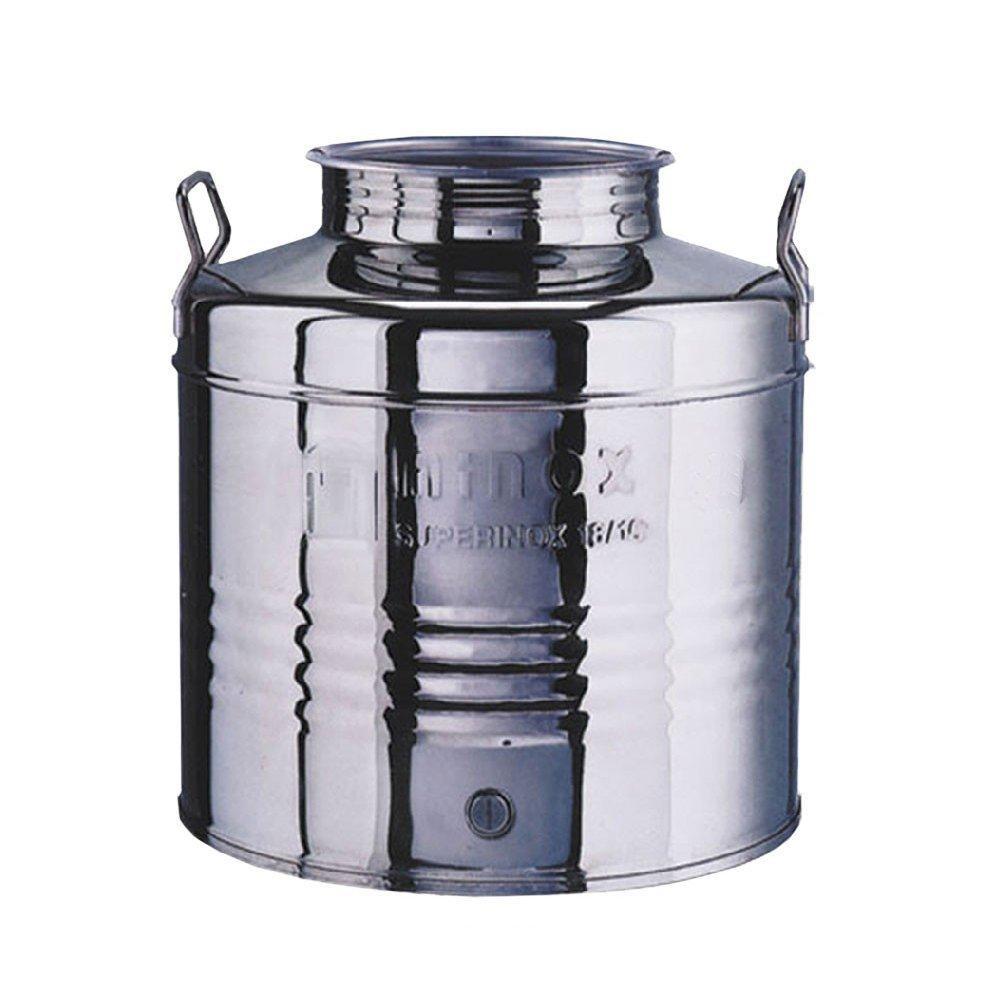 Fusto inox 20Lt contenitore bidone olio predisposizione rubinetto