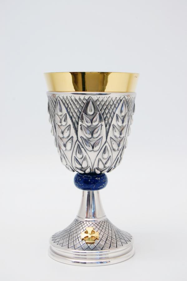 Calice in argento con nodo in lapislazzuli LOSA167