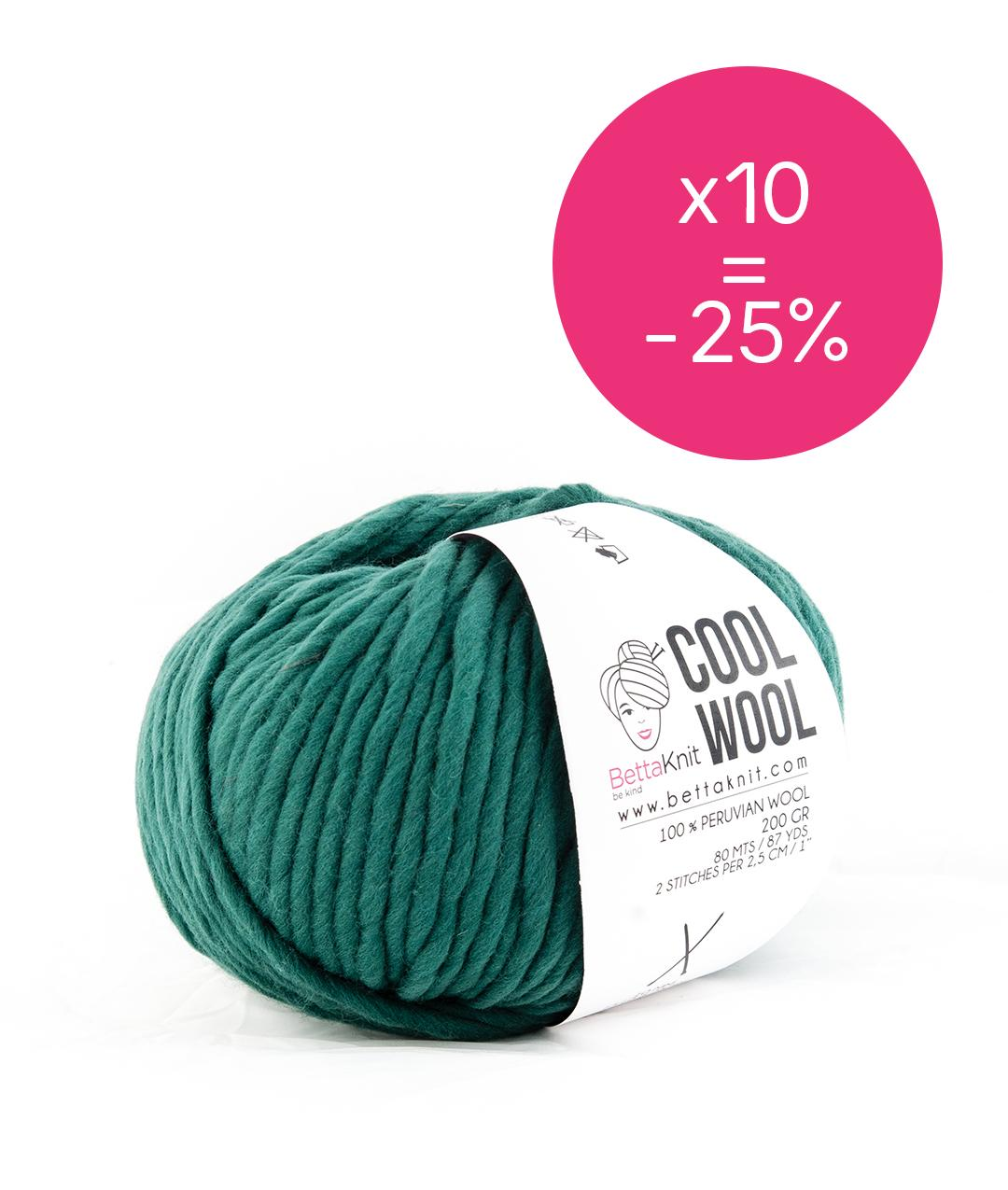 Yarn boxes without Needles  - Pack of Yarn - Cool Wool Pack - 10 balls - 1