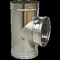 RACCORDO A T 90° PERCANNE FUMARIE DIAMETRI mm 80/100/120/130/150/200/250