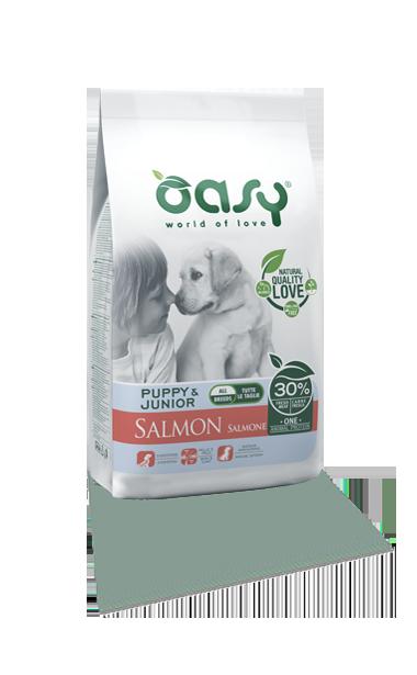 OASY DOG PUPPY SALMONE ALL BREEDS 2.5 KG