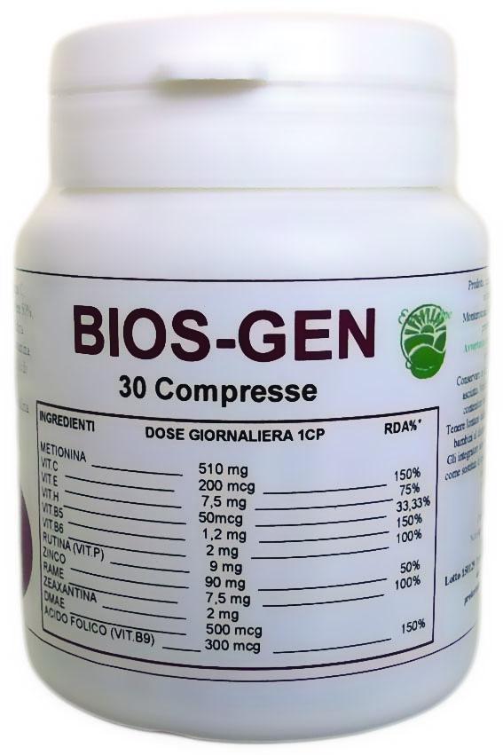 Bios-Gen - un aiuto al Sistema Immunitario, ai Capelli, alla Pelle, alle Unghie 30 compresse