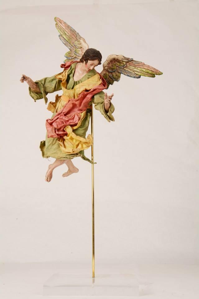 Angelo Presepe Napoletano 30 cm Terracotta e Stoffa