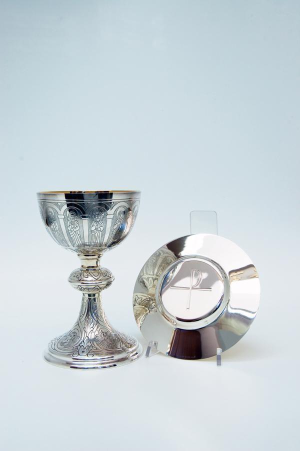 Calice tutto in argento con patena MOLACE1000