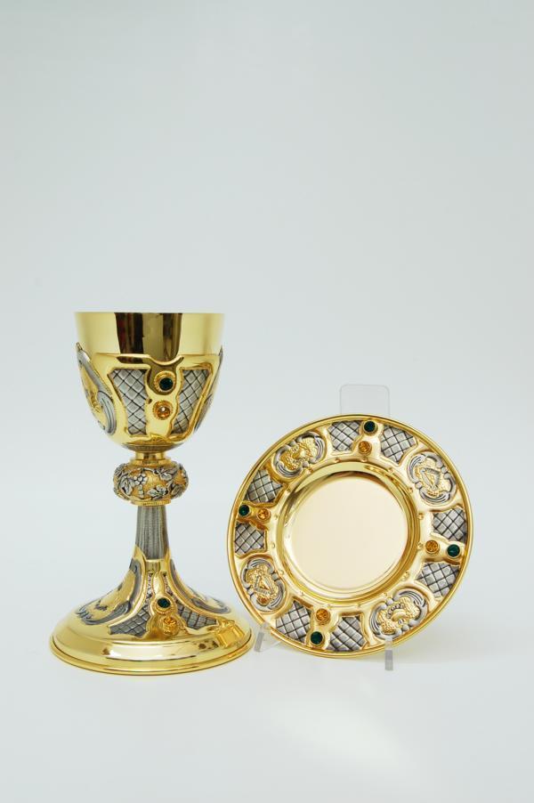 Calice tutto in argento con patena FRA572576