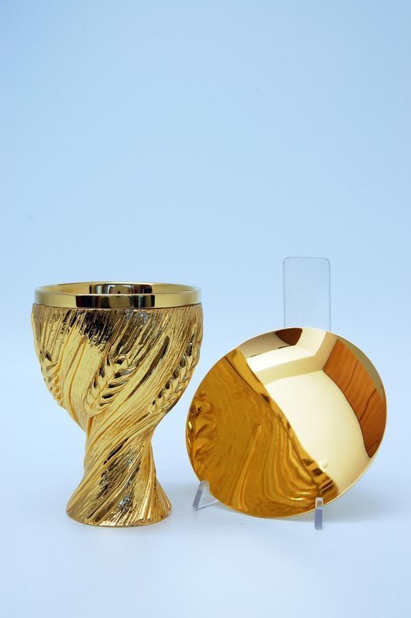 Calice coppa argento con patena Vortice di Spighe MOLACE5025