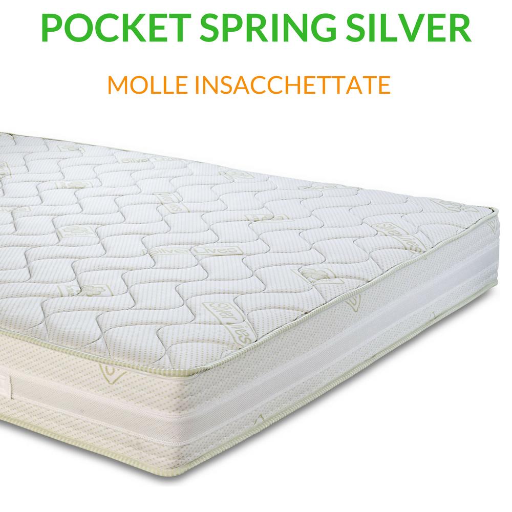 Materasso a molle insacchettate H23 | Pocket Spring Silver