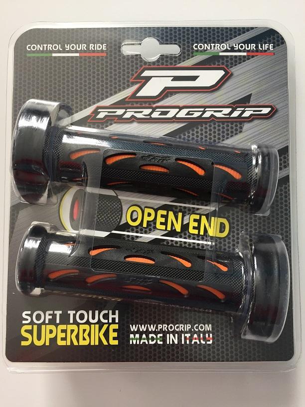 MANOPOLE PROGRIP MOTO RACING SUPERBIKE PGO724 NERO ARANCIONE