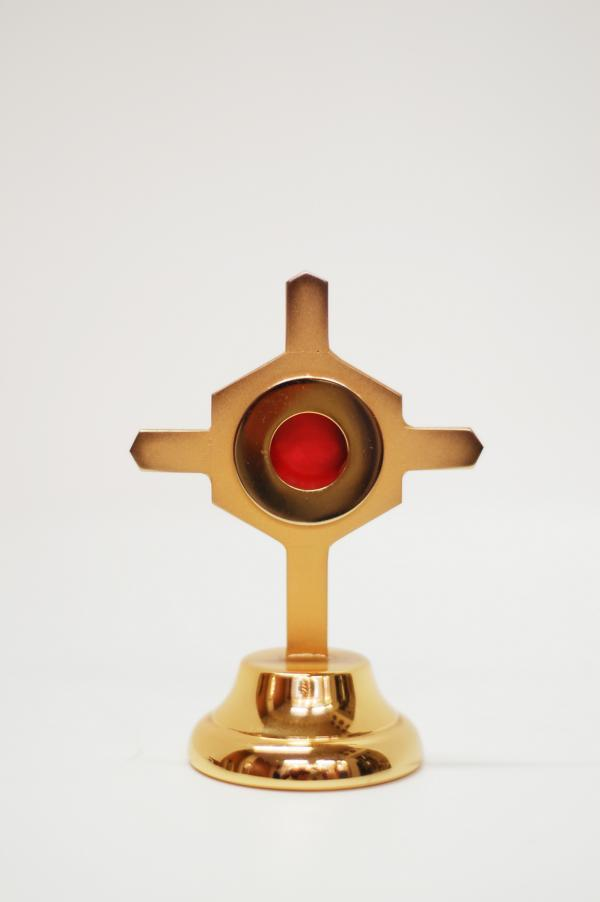 Reliquiario in metallo dorato h 11,5 cm AC3158