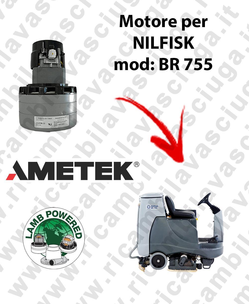 BR 755 MOTORE aspirazione LAMB AMETEK per lavapavimenti NILFISK